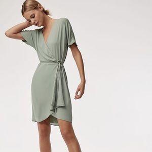 Aritzia Babaton Wallace Dress (Size Small) - Sage